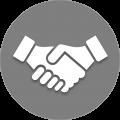 handshake with hands